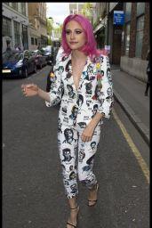 Pixie Lott - Arriving at AOL Build in London 4/13/2017
