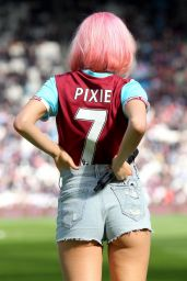 Pixie Lott - Performing At Half Time in West Ham V Everton Football Match in London 4/22/2017