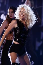 Pixie Lott Performing Live On The Voice Finale in London, UK 4/1/2017