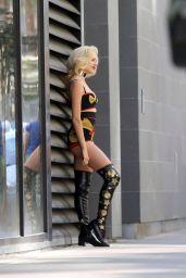 Pixie Lott - Shooting Music Video in LA 4/5/2017