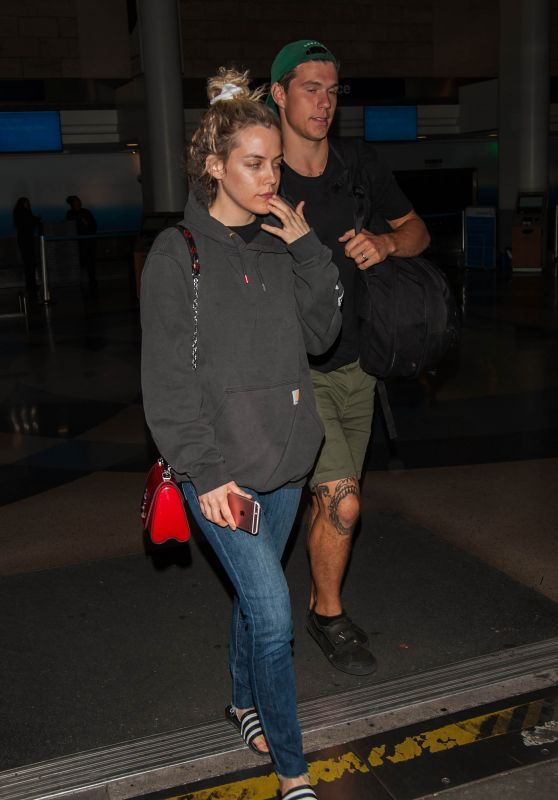 Riley Keough and Her Husband Ben Smith-Petersen at LAX in LA 4/10/2017