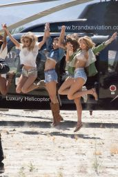Romee Strijd, Jasmine Tookes, Alessandra Ambrosio, Josephine Skriver and Martha Hunt - Arriving at Coachella in Indio 4/14/2017