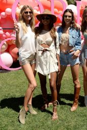 Romee Strijd & Jasmine Tookes at Coachella in Indio 4/14/2017