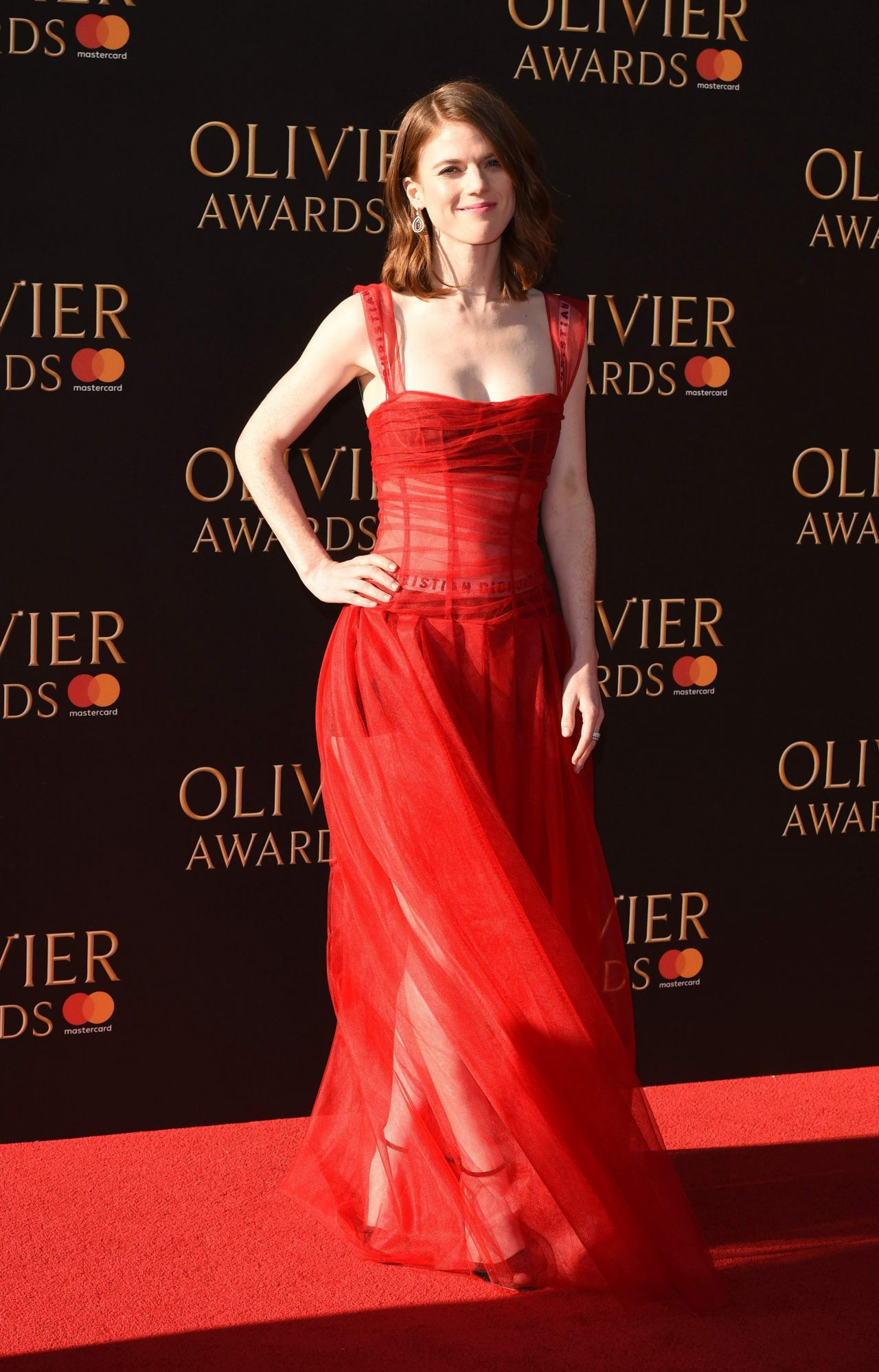 Rose Leslie Olivier Awards 2017 In London
