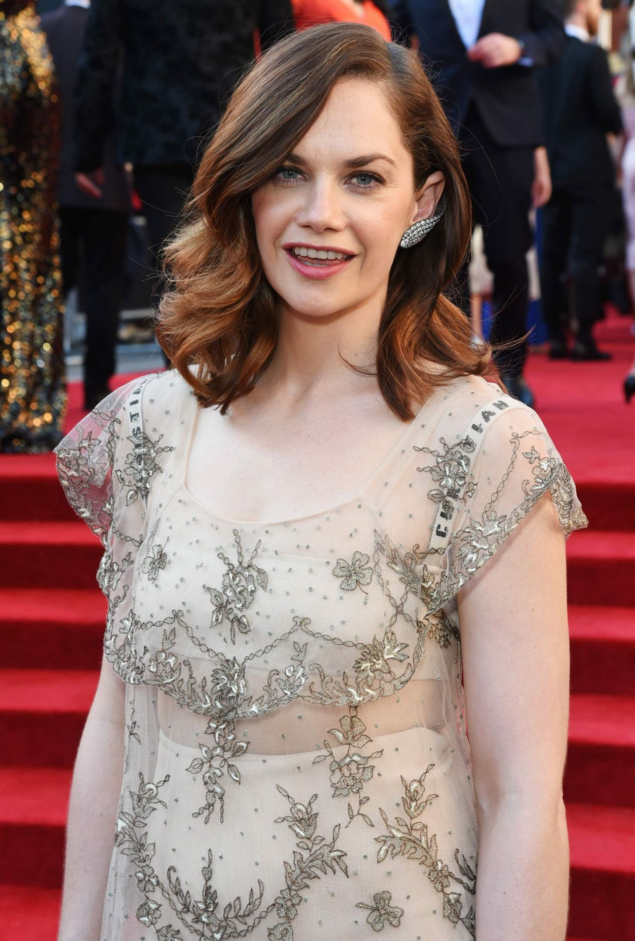 Ruth Wilson: Ruth Wilson On Red Carpet At Olivier Awards 2017 In London