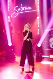 Sabrina Carpenter Performing on the Late Late Show With James Corden 4/17/2017