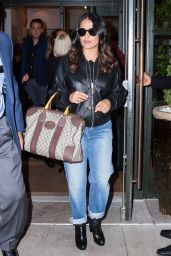 Salma Hayek Leaves A Press Junket in NYC 4/20/2017