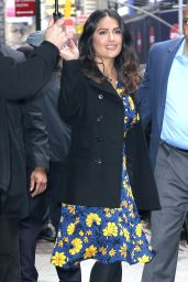 Salma Hayek Leaves Good Morning America in New York 4/20/2017