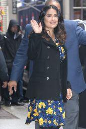 Salma Hayek Leaves Good Morning America in New York 4/20/2017
