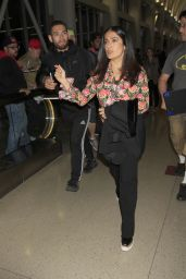 Salma Hayek - Mobbed by Aggressive Autograph Seekers - LAX in Los Angles 04/24/2017