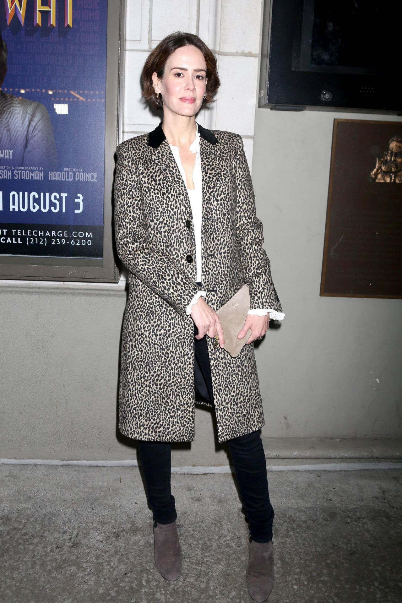 """Sarah Paulson – """"The Little Foxes"""" Play Opening Night in ..."""