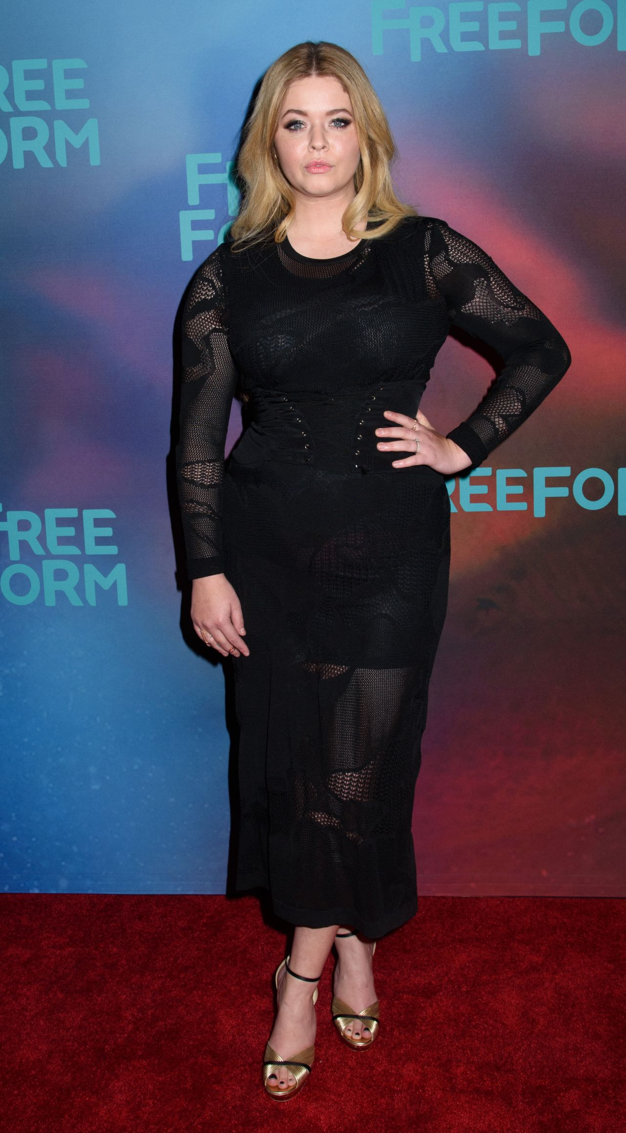 sasha pieterse at freeform upfront in new york 4192017