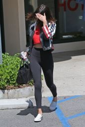 Selena Gomez in Tights - Leaving a Yoga Class in Los Angeles 4/13/2017