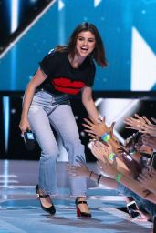 Selena Gomez on Stage at WE Day California Show in Los Angeles 04/27/2017