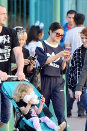 Selena Gomez With Her Famiily at Disneyland in Anaheim 4/4/2017