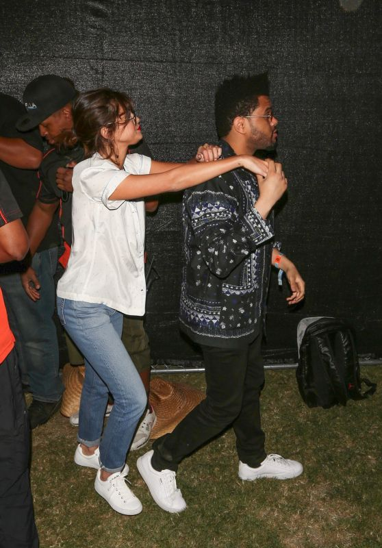 Selena Gomez With The Weeknd at Coachella in Indio 4/14/2017