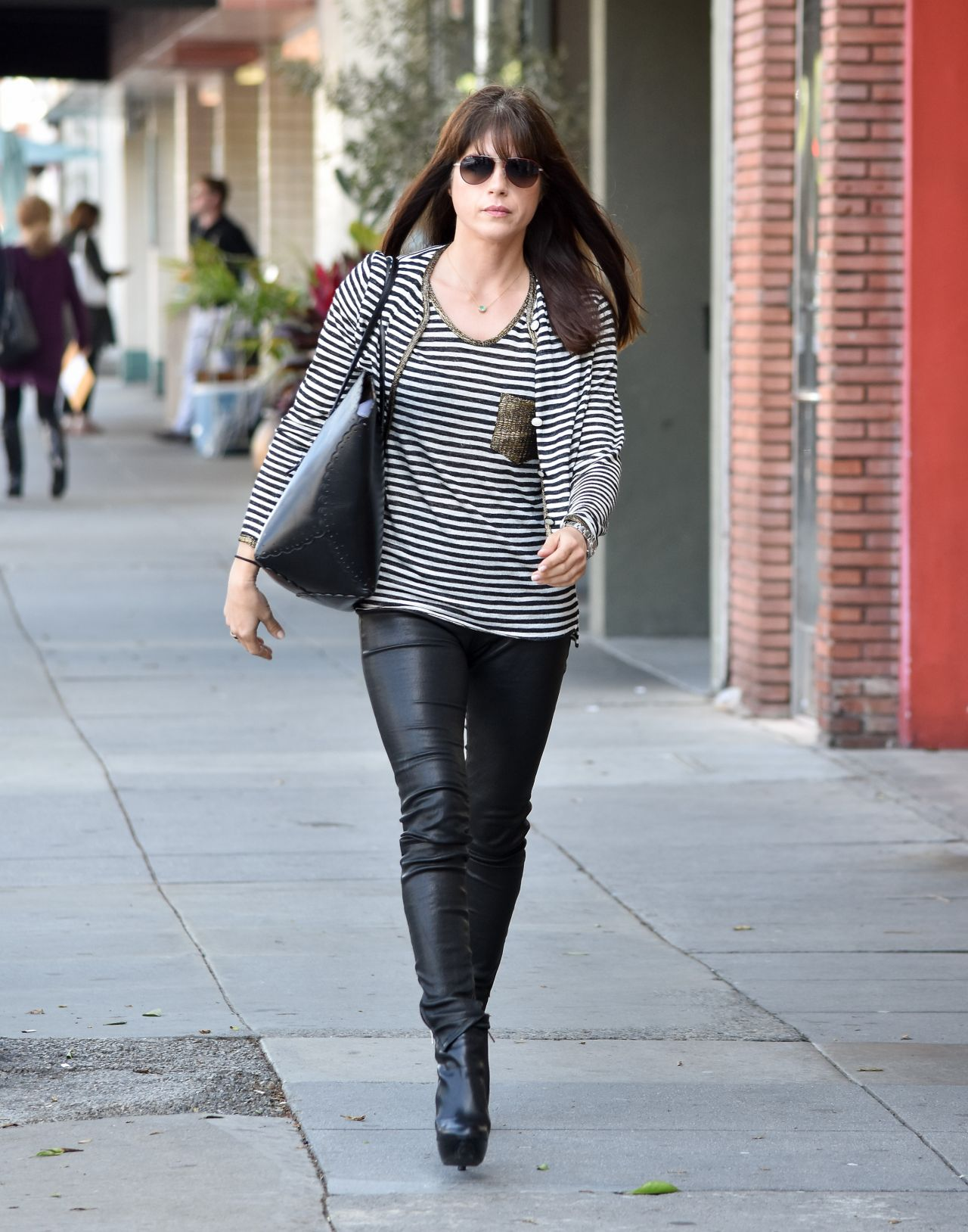 Selma Blair Casual Style - Out in los Angeles, April 2017