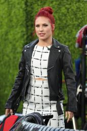 """Sharna Burgess - """"Extra"""" Appearance at Universal Studios in Hollywood, March 2017"""