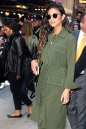 Shay Mitchell - Leaves at Good Morning America in New York 4/18/2017