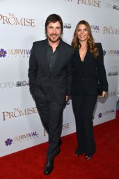 """Sibi Blazic and Christian Bale - """"The Promise"""" Special Screening in NY 4/18/2017"""