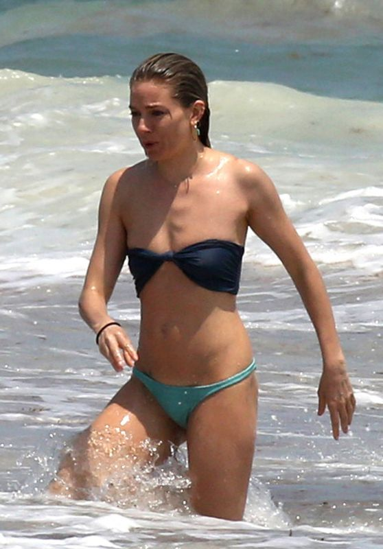 Sienna Miller Bikini Candids - Beach in Cancun 4/2/2017