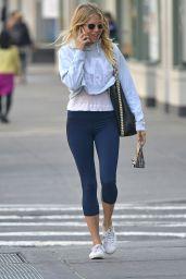 Sienna Miller in Leggings - New York City 4/11/2017