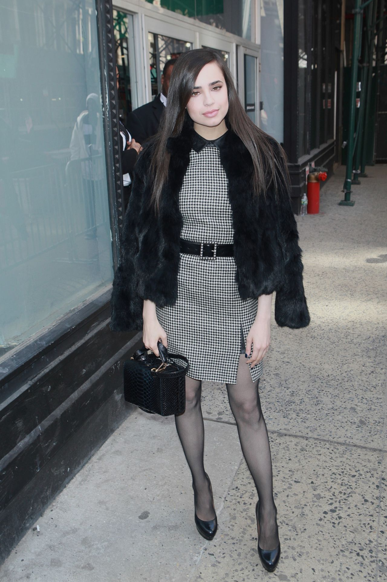 Sofia Carson Chic Outfit Aol Build Studios In Nyc 3 10 2017