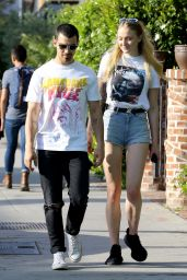 Sophie Turner and Joe Jonas Heading to a Coffee Shop in West Hollywood 4/11/2017