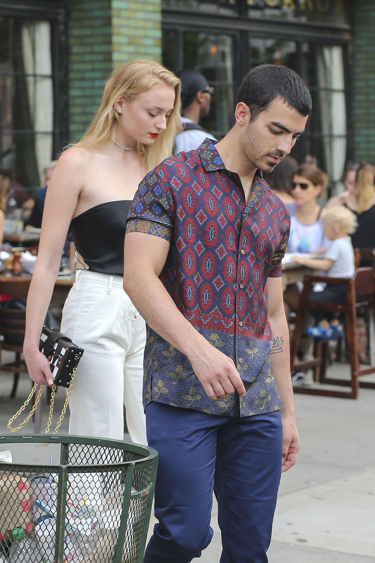 Sophie turner head to dinner in east village