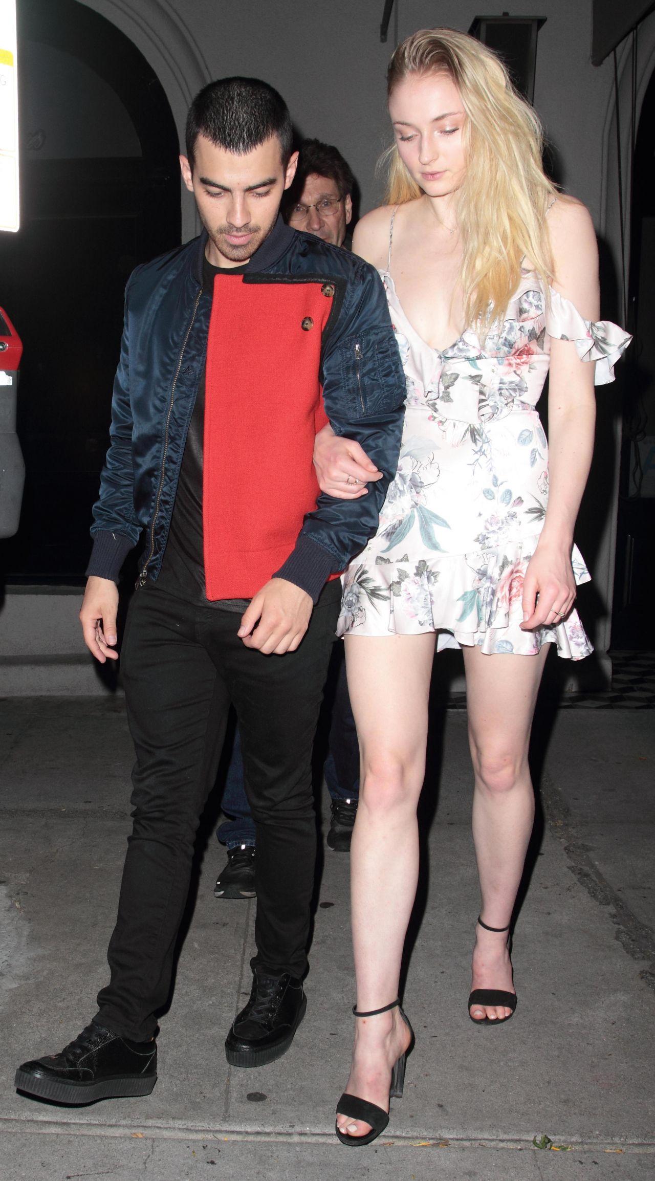 Sophie Turner Night Out With Joe Jonas Craig S