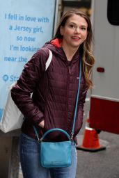 """Sutton Foster at the """"Younger"""" Set in NYC 4/4/2017"""