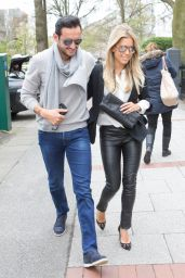 Sylvie Meis and Charbel Aouad - Out in Hamburg 4/13/2017