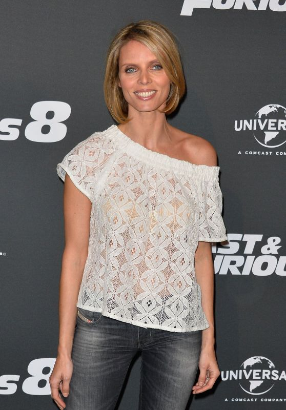 """Sylvie Tellier – """"The Fate of the Furious"""" Premiere in Paris 4/5/2017"""