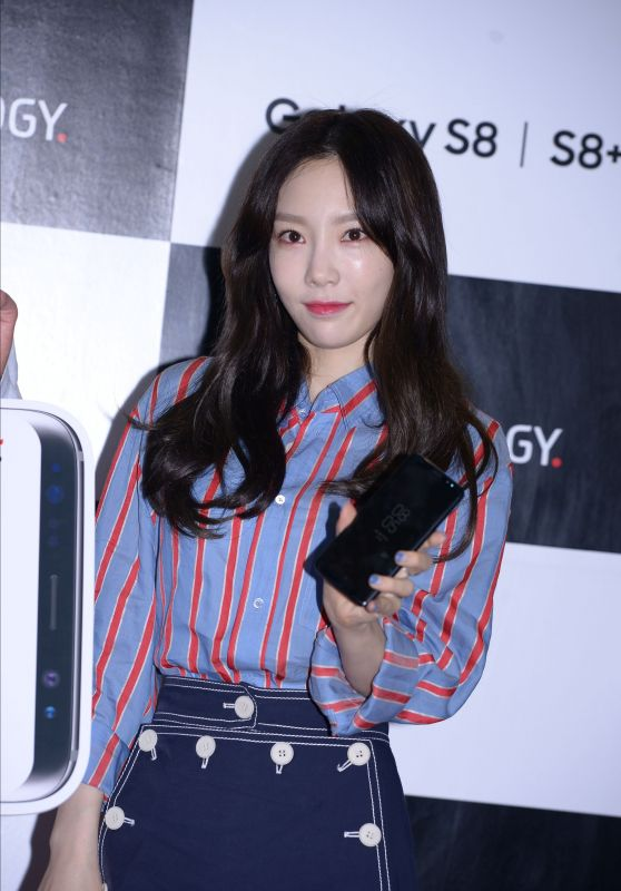 Taeyeon Bromotes a Communication Brand in Seoul, Korea 4/18/2017