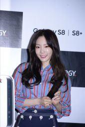 Taeyeon Bromotes a Communication Brand in Seoul, Korea 4/18/2017