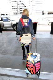 Tara Reid Travel Style - LAX in Los Angeles 4/3/2017