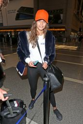 Taylor Hills in Leggings at LAX Airport 4/18/2017