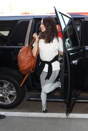 Troian Bellisario Travel Outfit - at LAX Airport 4/5/2017
