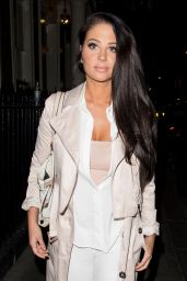 Tulisa Contostavlos Night Out Style - Leaving The Arts Club in Mayfair, London 4/2/2017
