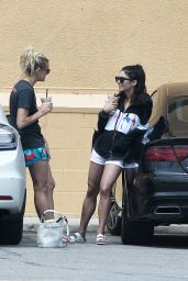 Vanessa Hudgens Grabs an Iced Drink From Alfred