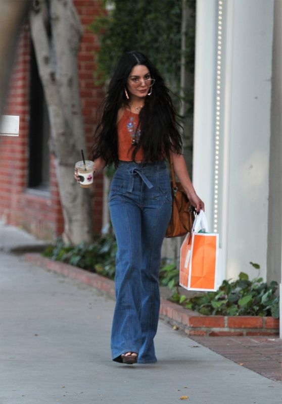 Vanessa Hudgens in Casual Attire - Leaving a Skin Care Clinic in West Hollywood 4/11/2017