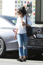 Vanessa Hudgens on Her Way to Get Coffee in Los Angeles 04/27/2017