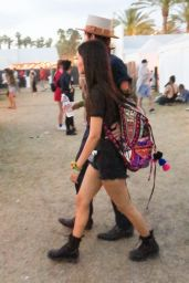 Victoria Justice in a Pair of Short Shorts at Coachella in Indio 4/16/2017
