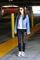 Victoria Justice - Leaving a Parking Garage in Los Angeles, APril 2017