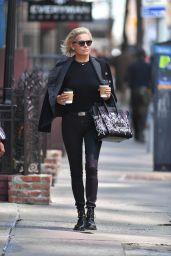 Yolanda Hadid Carrying a Celine Handbag in New York City 4/10/2017