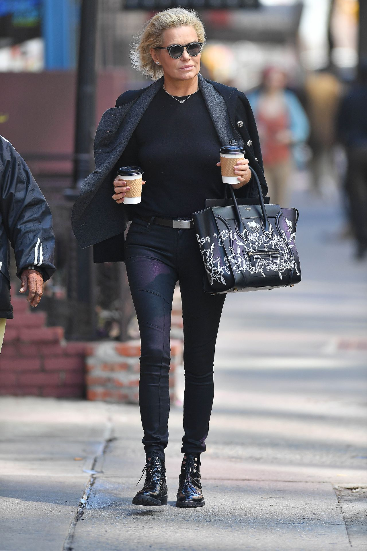 28c0d4fde3 Yolanda Hadid Carrying a Celine Handbag in New York City 4 10 2017