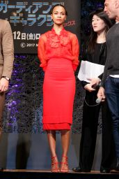 Zoe Saldana - Guardians of the Galaxy Vol. 2 Press Conference in Tokyo 4/11/2017