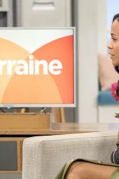 Zoe Saldana - Lorraine TV Show in London 4/24/2017