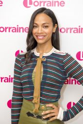 Zoe Saldana - Lorraine TV Show in London 4/24/2017