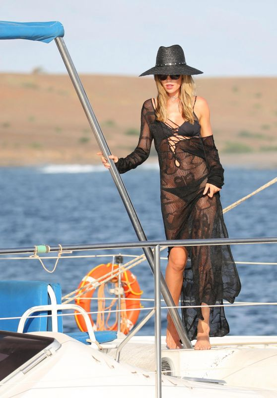 "Abbey Clancy - Bikini Photoshoot For ""Britain's Next Top Model"" on Yacht in Cape Verde 5/10/2017"